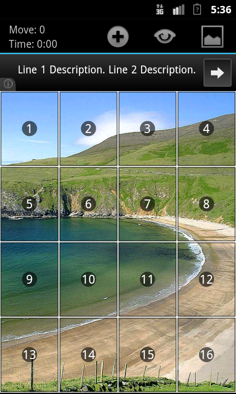 Geser Slide Puzzle - screenshot
