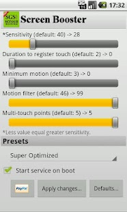 SGS Touchscreen Booster - screenshot thumbnail