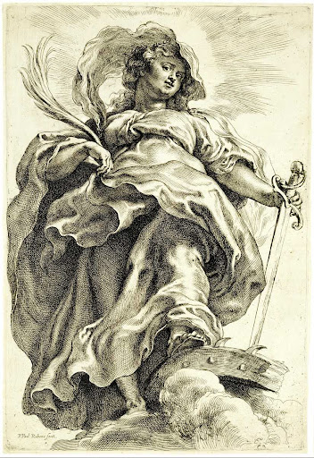Saint Catherine (of Alexandria) in the Clouds