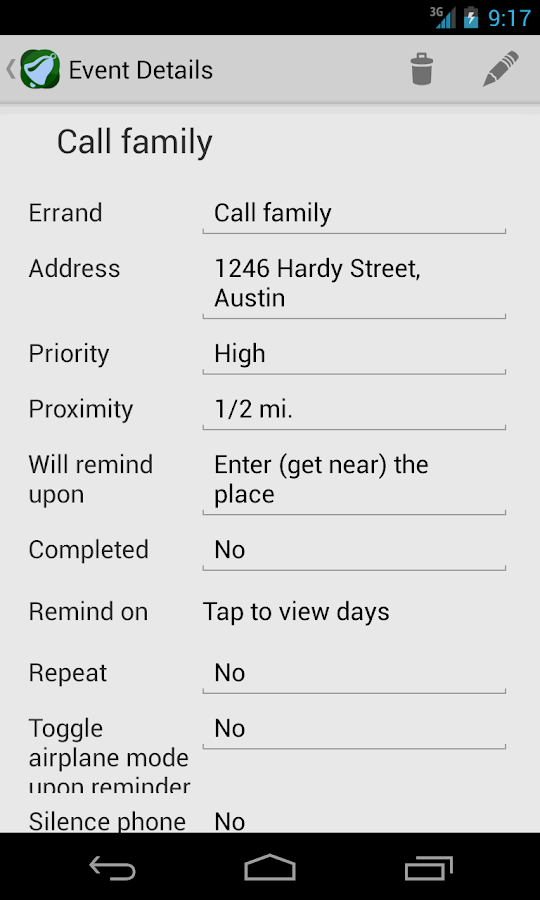 Geobells: Location Reminders - screenshot