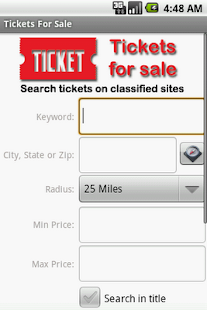 Tickets For Sale - screenshot thumbnail