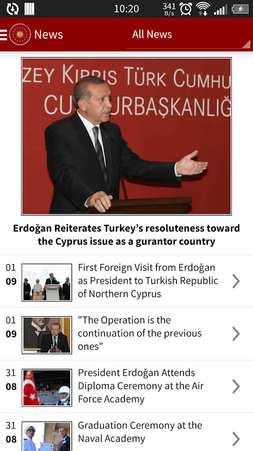 Pres of the Republic of Turkey- screenshot
