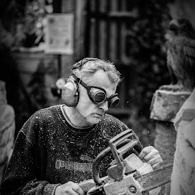 Wood Carver by Eva Lechner - People Professional People ( wood carver, artist, professional, woodcarving, people )