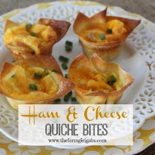 Ham & Cheese Quiche Bites.