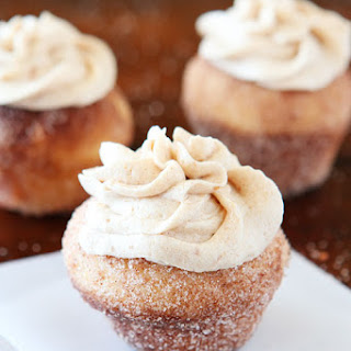 Brown Butter Snickerdoodle Doughnut Muffins with Brown Butter Buttercream Frosting