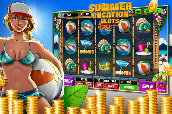 Slots Machine Summer Vacation! - screenshot