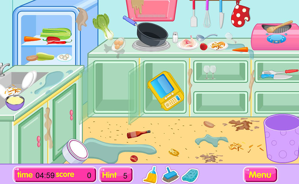 Kitchen restaurant cleanup- screenshot