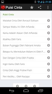 玩書籍App|Puisi Cinta免費|APP試玩
