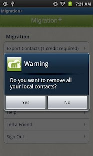 Migration+ (transfer contacts) - screenshot thumbnail