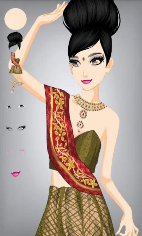 Make Indian girl Dress up - screenshot
