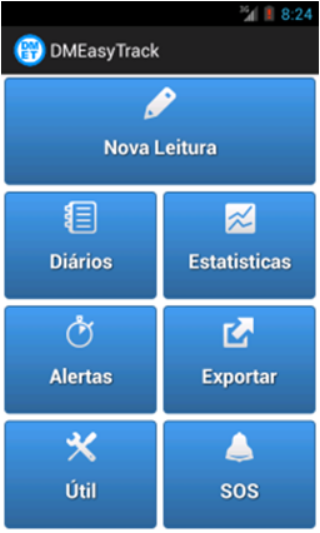 Controlo Diabetes -DMEasyTrack– captura de ecrã