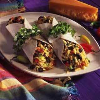 Mexican-style Rice & Bean Burritos.