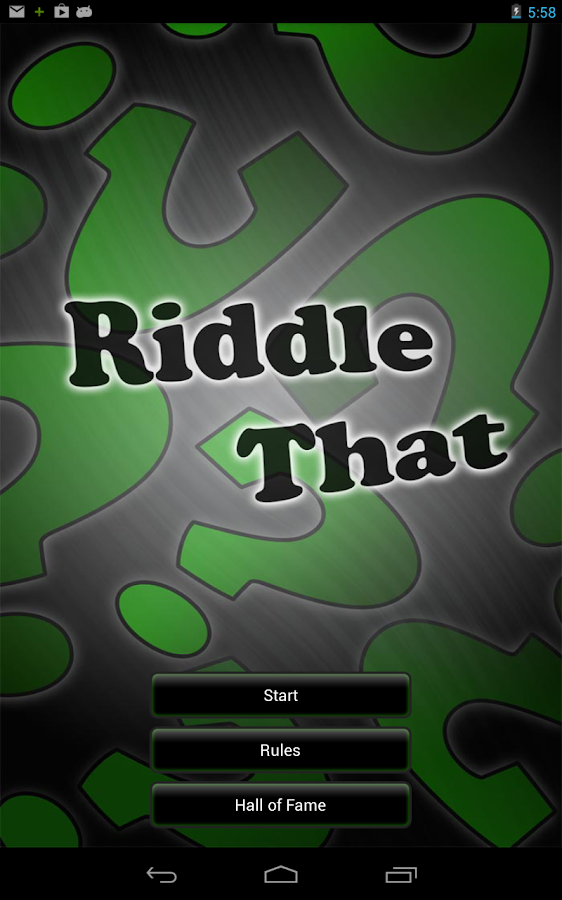 Riddle That- screenshot
