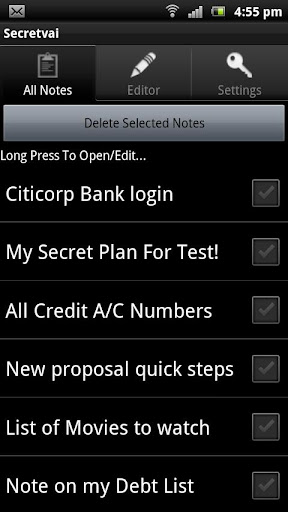Secretvai Secret Notes