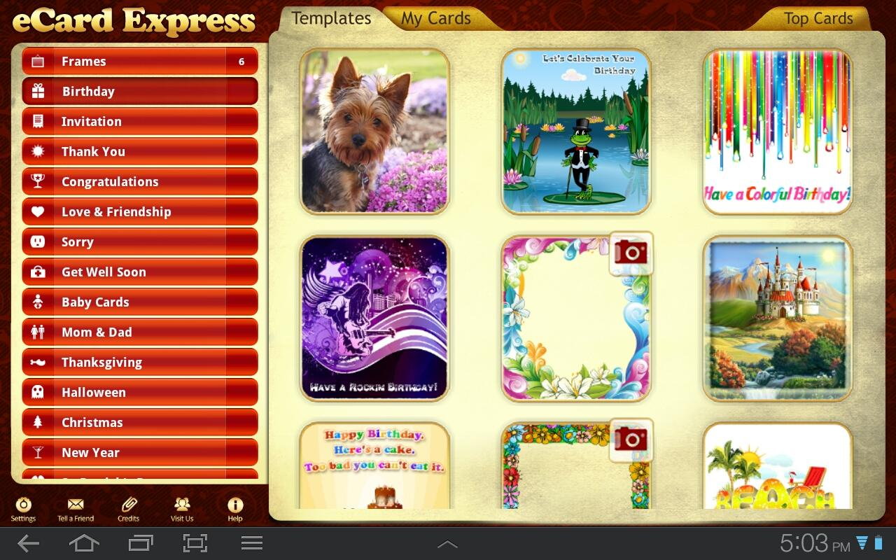eCard Express HD- screenshot