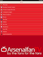 Screenshot of Arsenal Fan TV