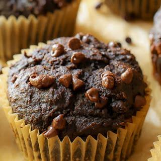 130 Calorie Chocolate Pumpkin Spice Muffins