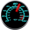 GPS Speedometer in kph and mph icon