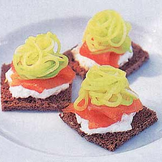 Smoked Salmon and Cucumber Squares.