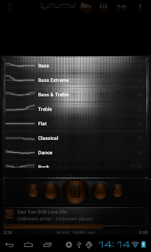【免費音樂App】Poweramp skin 土衛六橙色網格-APP點子