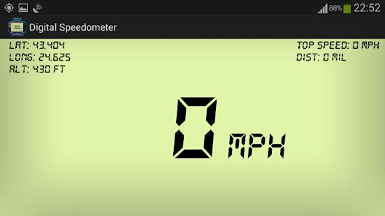 Digital GPS Speedometer & HUD- screenshot thumbnail