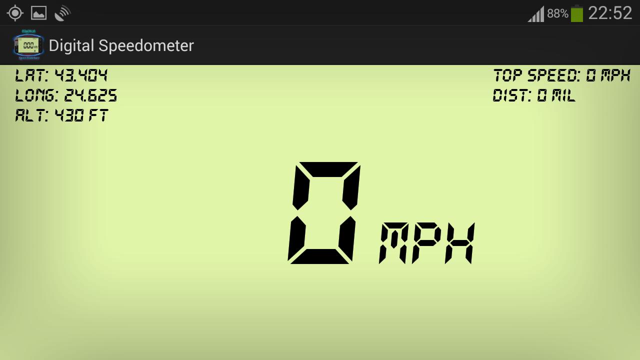 Digital GPS Speedometer & HUD- screenshot
