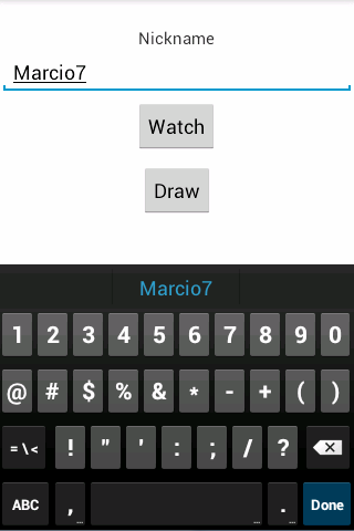 Blackboard Remote Finger Draw- screenshot