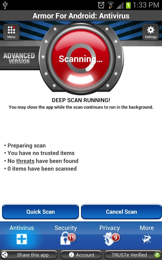 Armor for Android™ Antivirus - screenshot