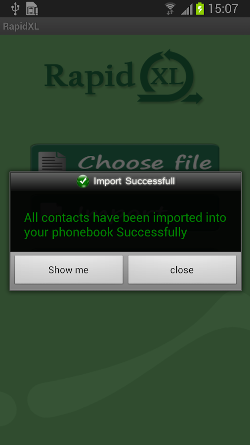 Export Import Contacts Excel- screenshot
