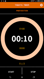 Interval timer with music screenshot