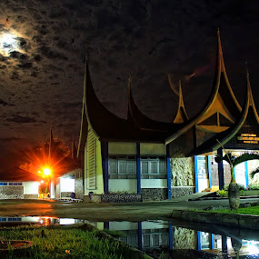 MOON LIGHT BACK by Fajar Vandra - Buildings & Architecture Places of Worship