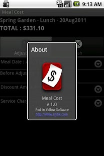 Meal Cost - screenshot thumbnail
