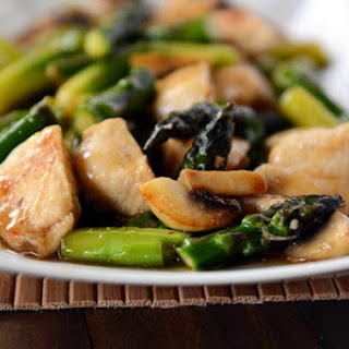 Ginger Chicken and Asparagus Stir-Fry.