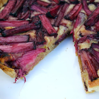 Red Wine Roasted Rhubarb Frangipane Tart Recipe