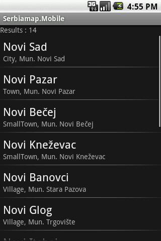 Serbiamap.Mobile- screenshot