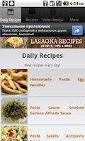 Screenshot of Lasagna Recipes!