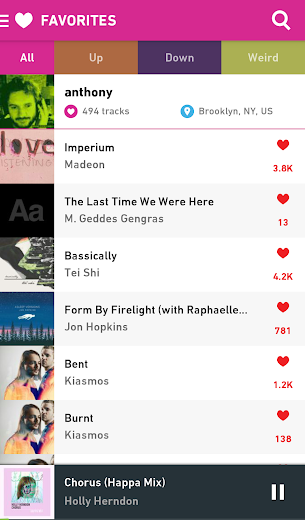 Screenshot 3 for Hype Machine's Android app'
