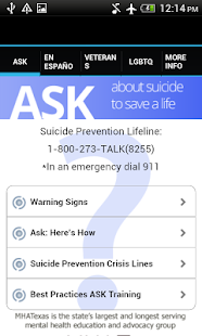 ASK & Prevent Suicide- screenshot thumbnail