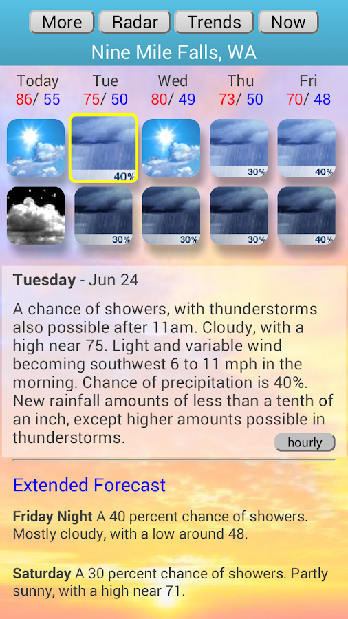 Weather4us - screenshot