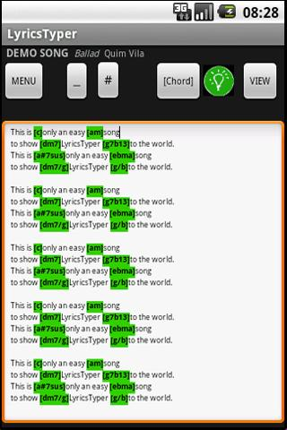 LyricsTyper- screenshot