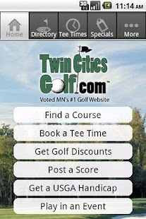 TwinCitiesGolf.com- screenshot thumbnail