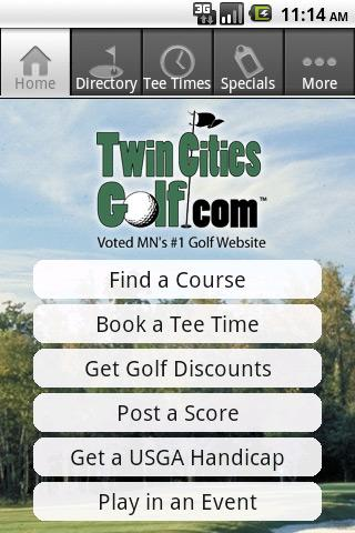 TwinCitiesGolf.com - screenshot