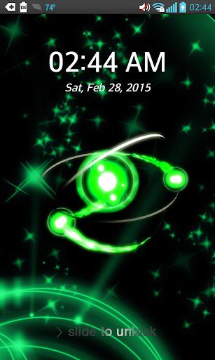 Live Orbit Pattern Lock Screen