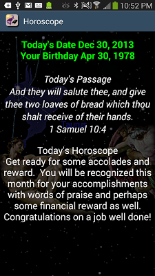 Bible Horoscopes - screenshot