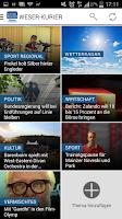 Screenshot of WESER-KURIER News