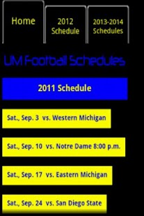 Michigan Football Schedule - screenshot thumbnail