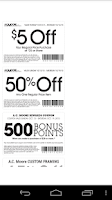 Screenshot of Coupons for AC Moore