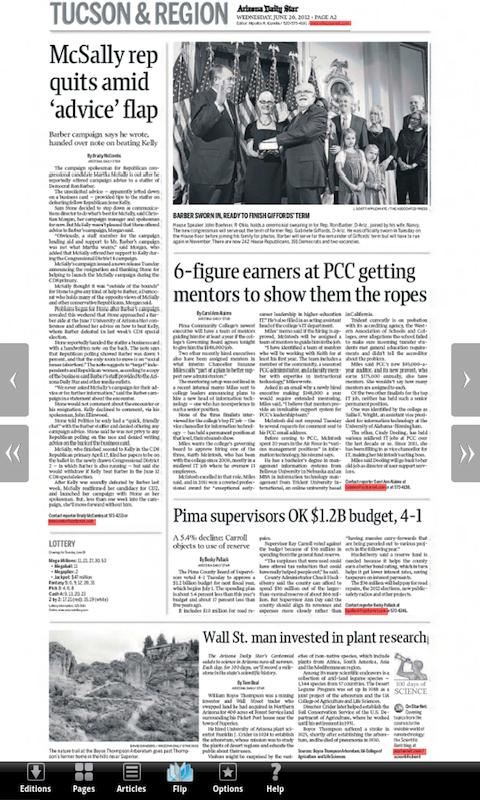 Arizona Daily Star E-Edition - screenshot