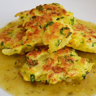 tortitas de papa/Potato Cakes.