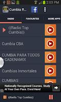 Screenshot of Cumbia Radio